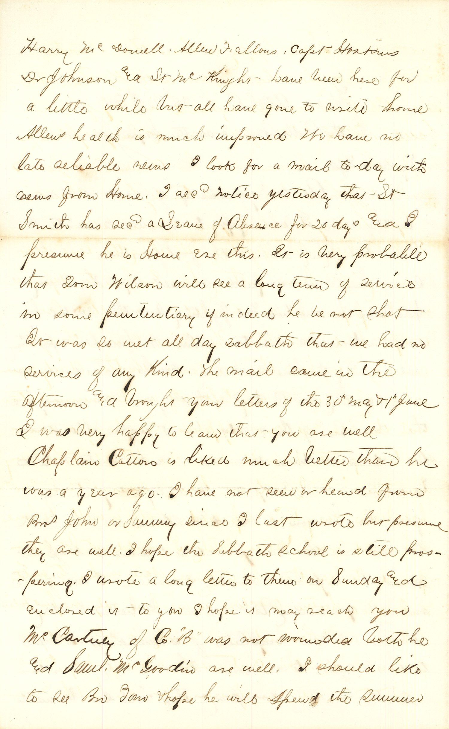 Joseph Culver Letter, June 14, 1864, Page 2