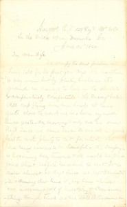 Joseph Culver Letter, June 25, 1864, Page 1