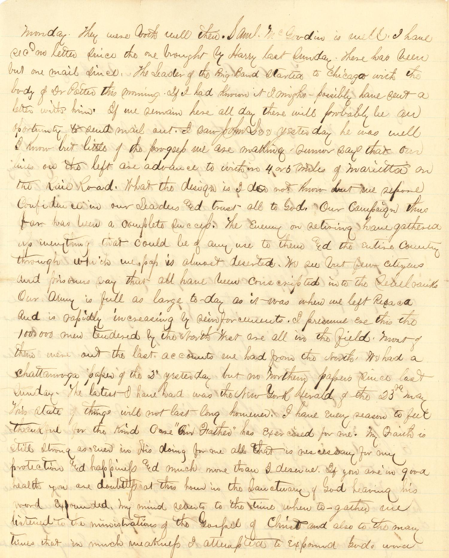 Joseph Culver Letter, June 5, 1864, Page 2