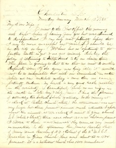 Joseph Culver Letter, March 13, 1865, Page 1