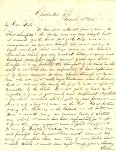Joseph Culver Letter, March 14, 1865, Page 1