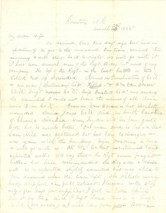 Joseph Culver Letter, March 24, 1865, Page 1