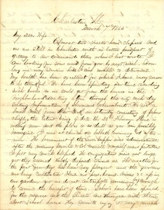 Joseph Culver Letter, March 7, 1865, Page 1