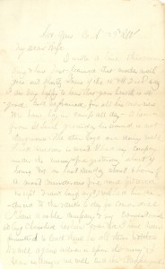 Joseph Culver Letter, May 14, 1864, Page 1
