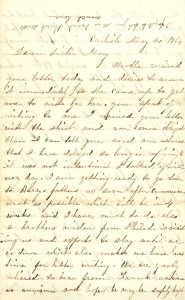 Joseph Culver Letter, May 30, 1864, Page 1