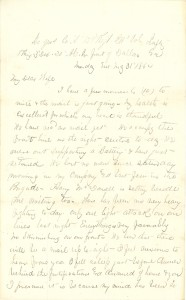 Joseph Culver Letter, May 31, 1864, Page 1