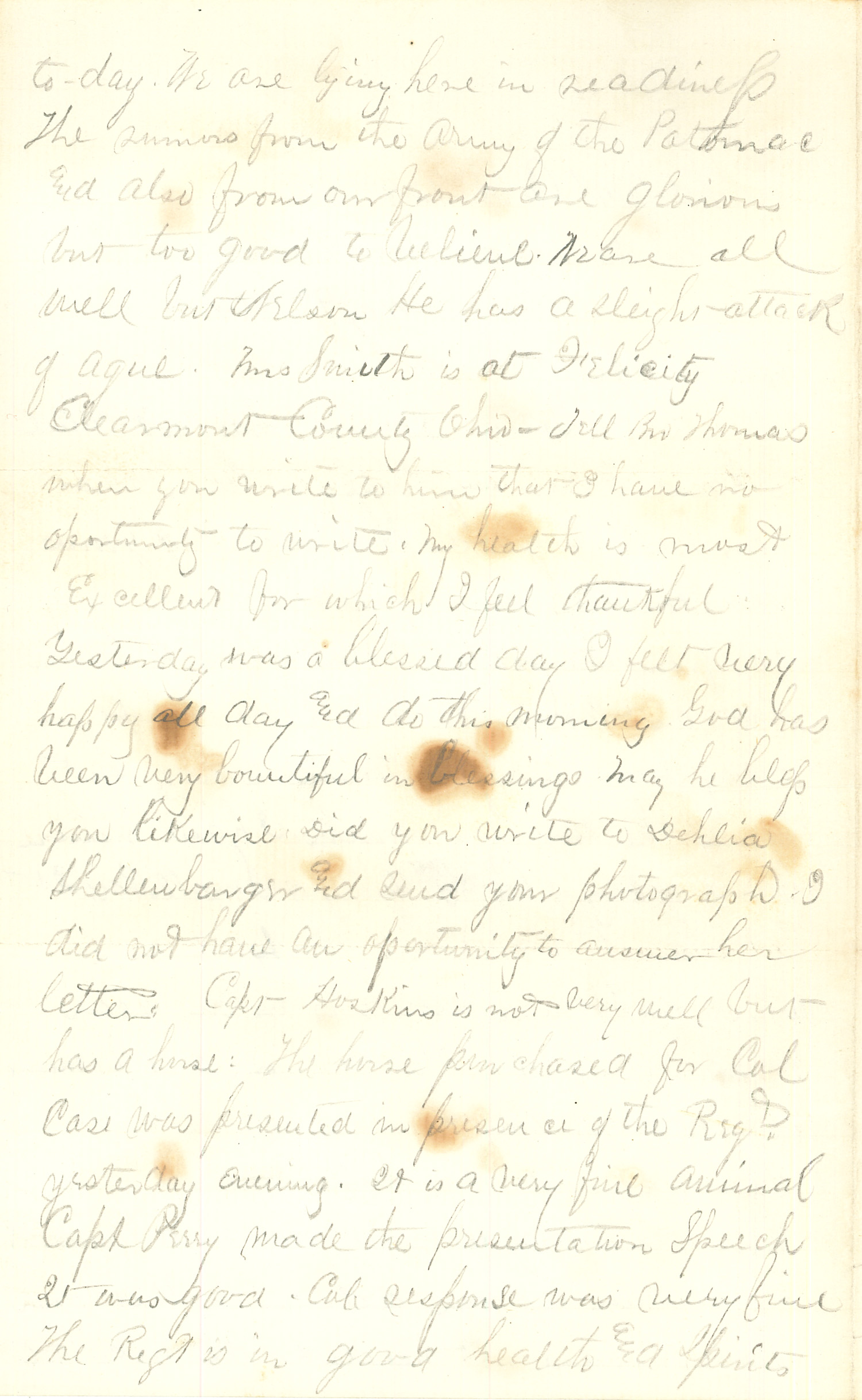Joseph Culver Letter, May 9, 1864, Page 2