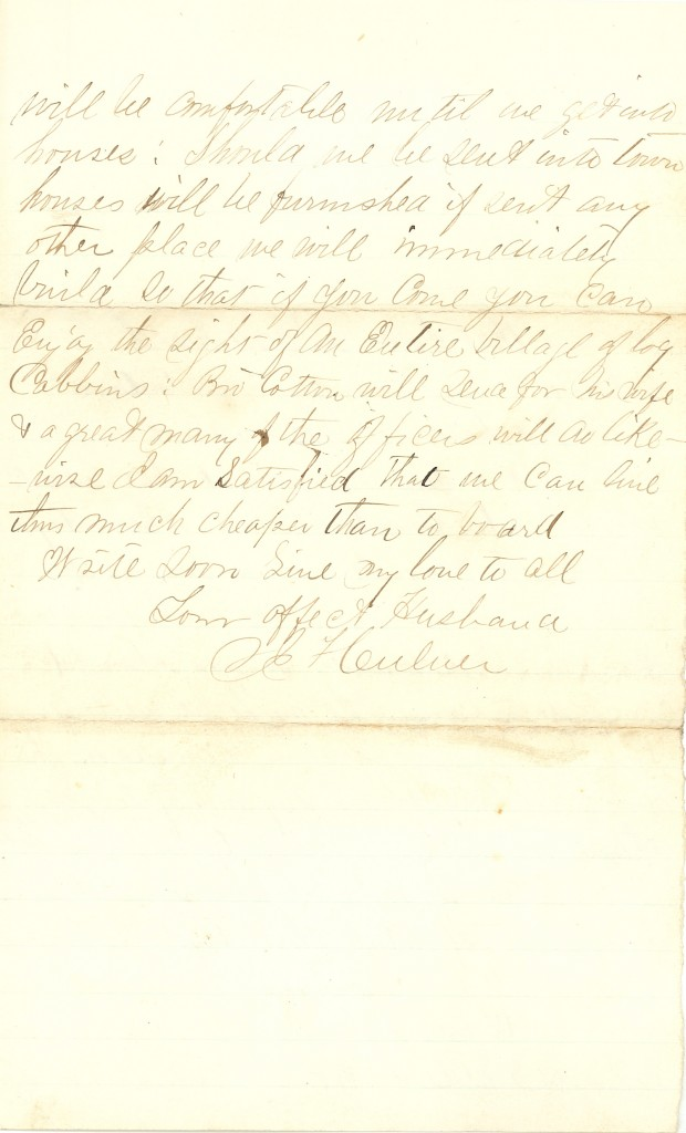 Joseph Culver Letter, November 11, 1862, Page 2