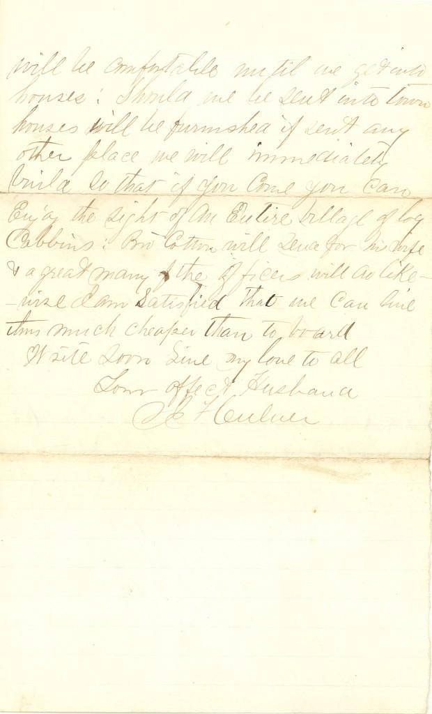 Joseph Culver Letter, November 11, 1862, Page 2