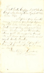 Joseph Culver Letter, November 12, 1862, Page 1