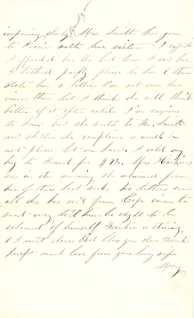 Joseph Culver Letter, November 14, 1862, Page 3