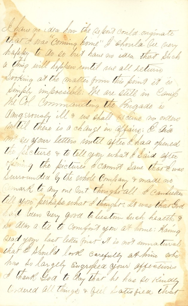 Joseph Culver Letter, November 16, 1862, Page 2