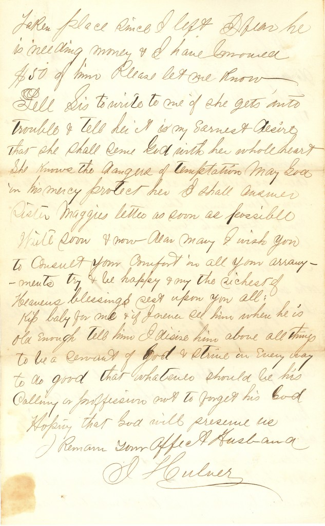 Joseph Culver Letter, November 16, 1862, Page 8