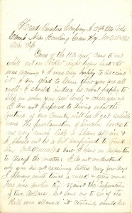 Joseph Culver Letter, November 20, 1862, Page 1