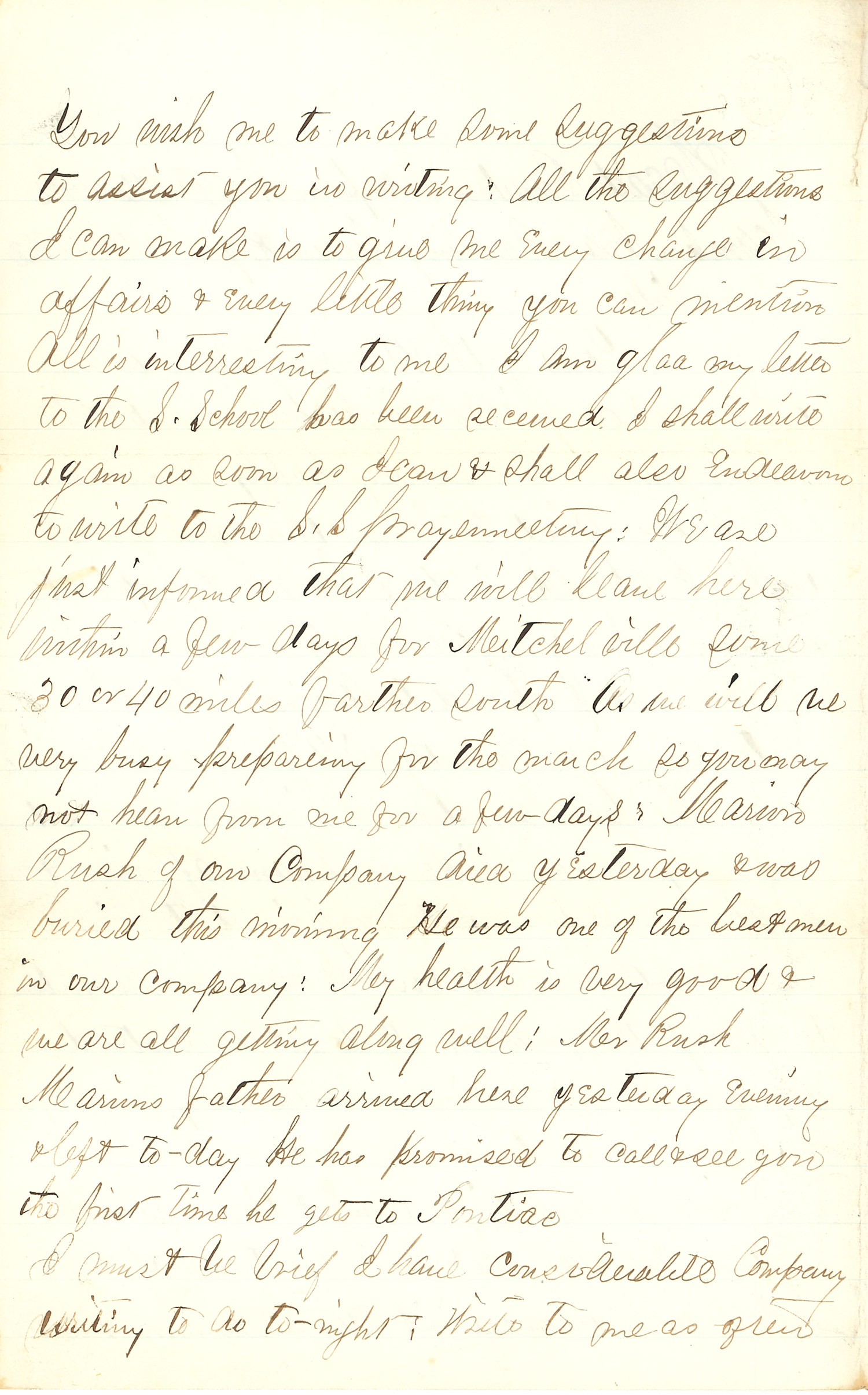 Joseph Culver Letter, November 20, 1862, Page 2