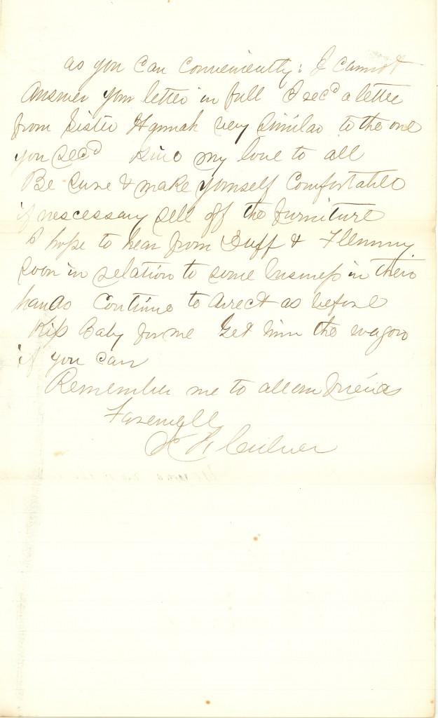 Joseph Culver Letter, November 20, 1862, Page 3