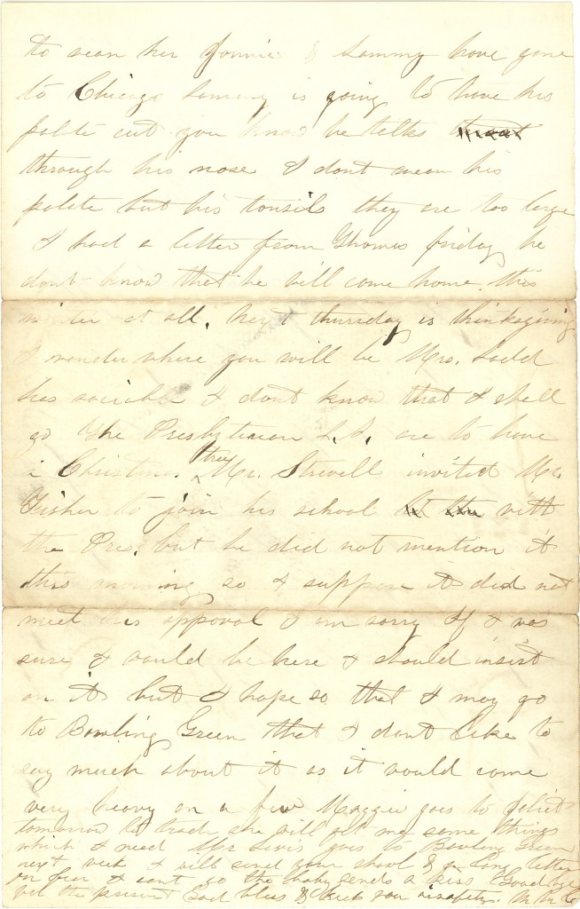 Joseph Culver Letter, November 23, 1862, Page 2