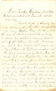 Joseph Culver Letter, November 24, 1862, Page 1