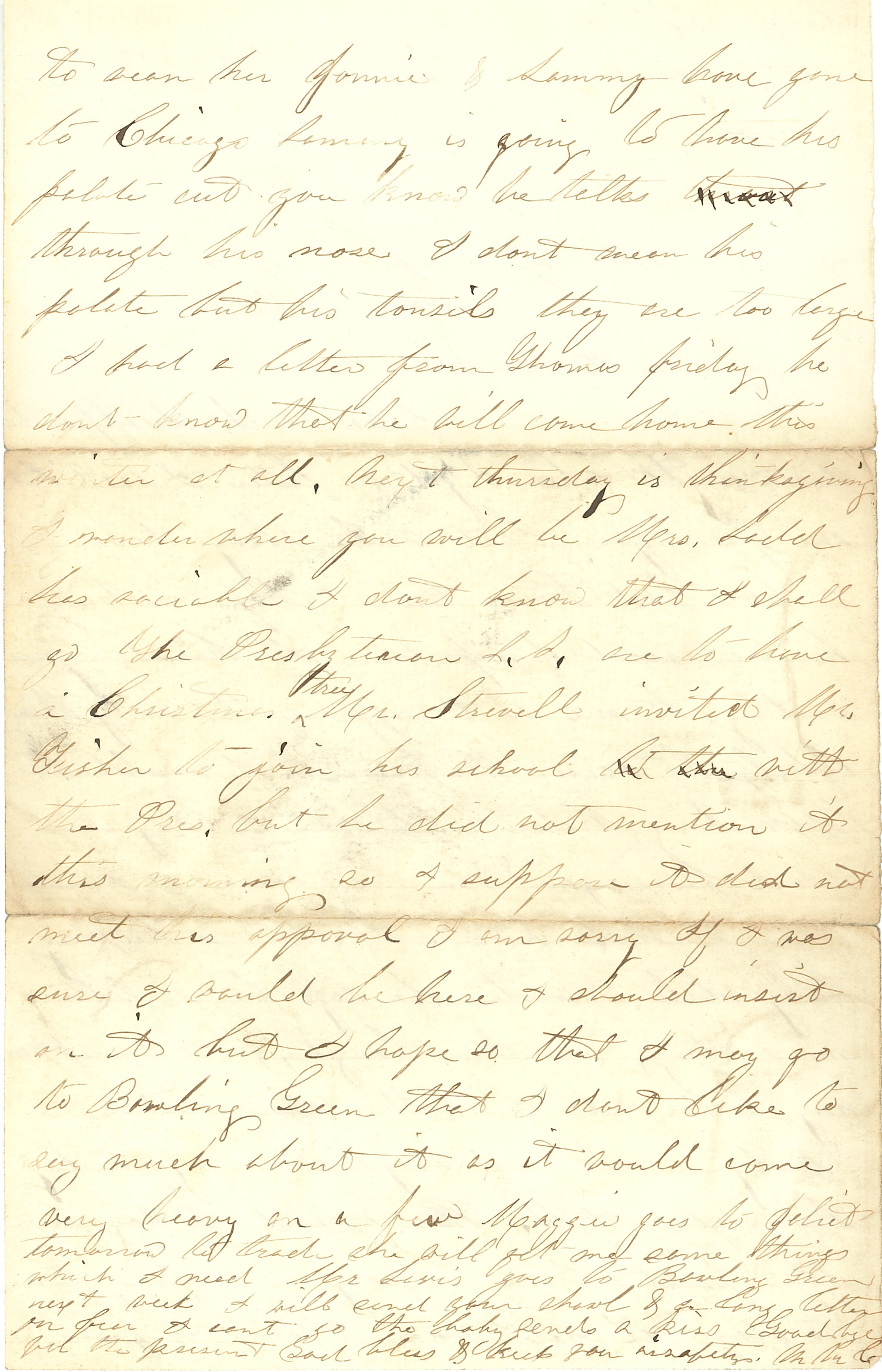 Joseph Culver Letter, November 24, 1862, Page 2