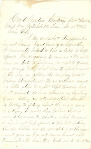 Joseph Culver Letter, November 26, 1862, Page 1