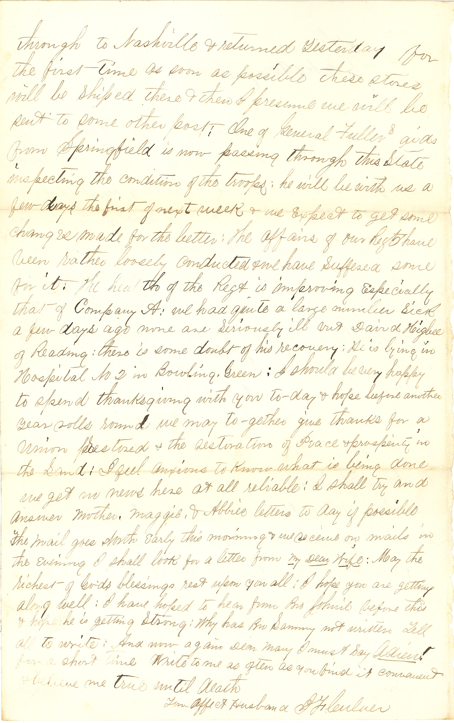 Joseph Culver Letter, November 27, 1862, Page 2