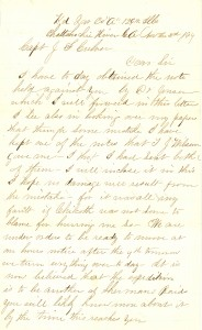Joseph Culver Letter, November 3, 1864, Page 1