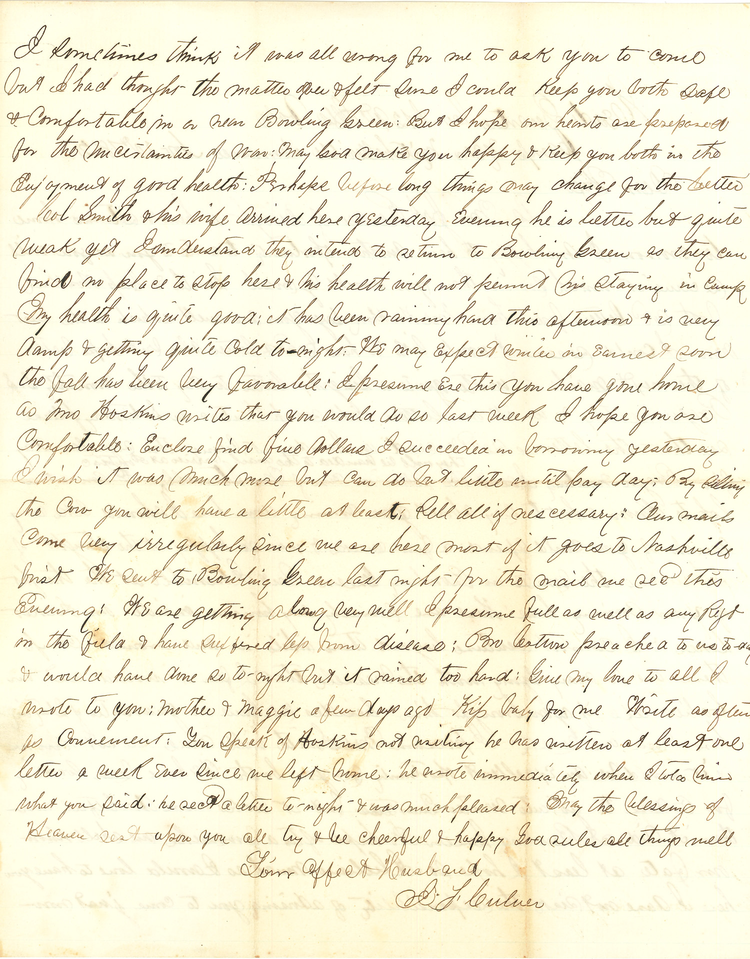 Joseph Culver Letter, November 30, 1862, Page 2