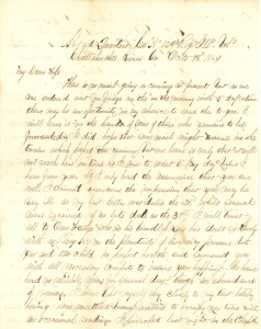 Joseph Culver Letter, October 18, 1864, Page 1