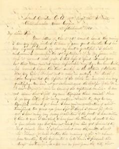 Joseph Culver Letter, September 13, 1864, Letter 2, Page 1