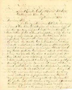 Joseph Culver Letter, September 13, 1864, Page 1