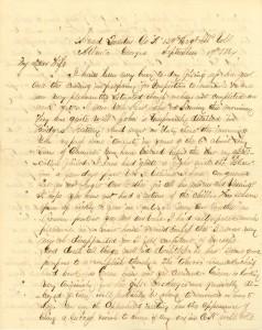 Joseph Culver Letter, September 19, 1864, Letter 2, Page 1