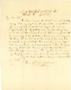 Joseph Culver Letter, September 19, 1864, Page 1