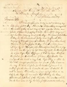 Joseph Culver Letter, September 22, 1864, Page 1