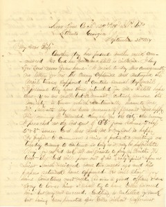 Joseph Culver Letter, September 25, 1864, Page 1