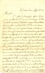 Joseph Culver Letter, September 29, 1864, Page 1