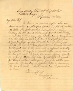 Joseph Culver Letter, September 30, 1864, Page 1