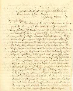 Joseph Culver Letter, September 7, 1864, Page 1