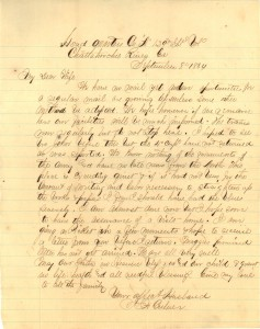 Joseph Culver Letter, September 8, 1864, Page 1