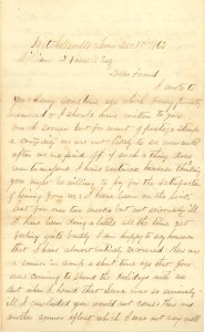 Joseph Culver Letter, December 17, 1862, Page 1