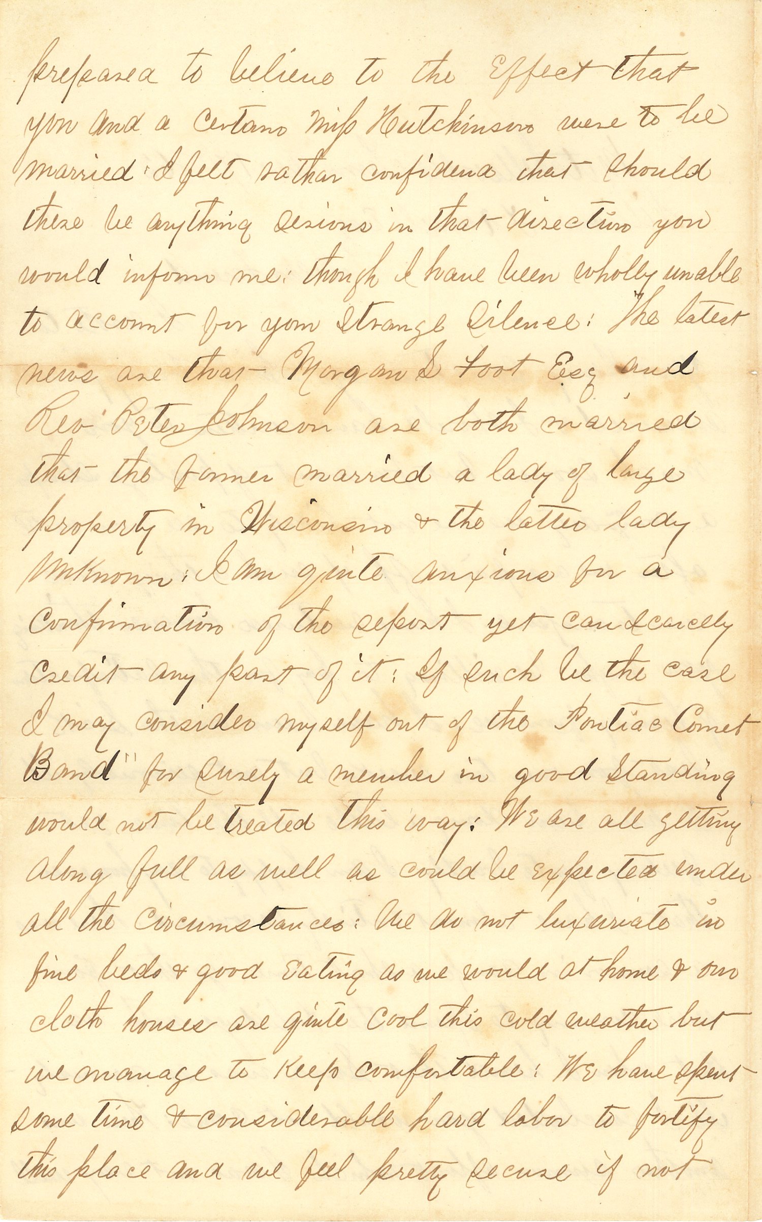 Joseph Culver Letter, December 17, 1862, Page 2