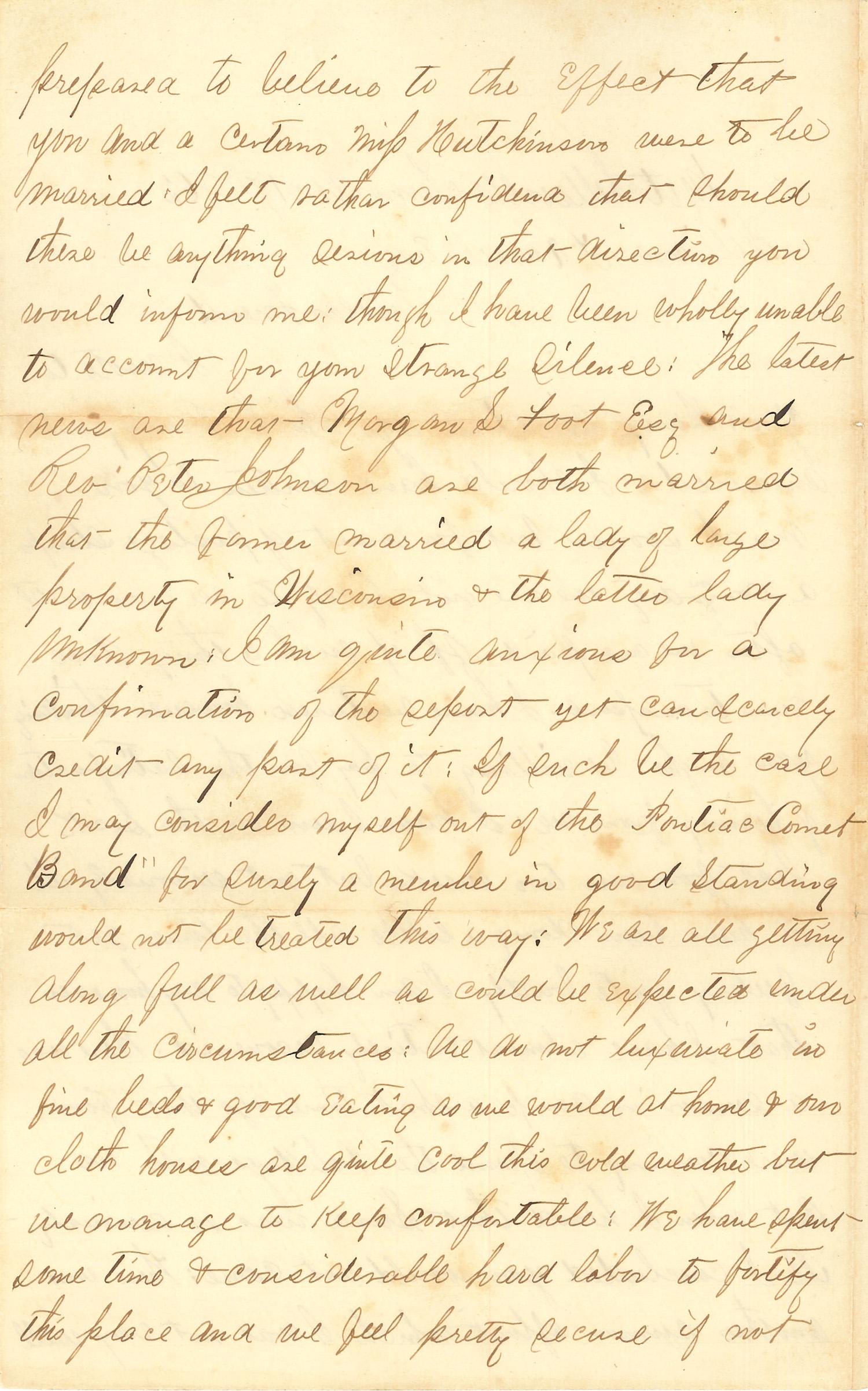 Joseph Culver Letter, December 17, 1862, Page 2