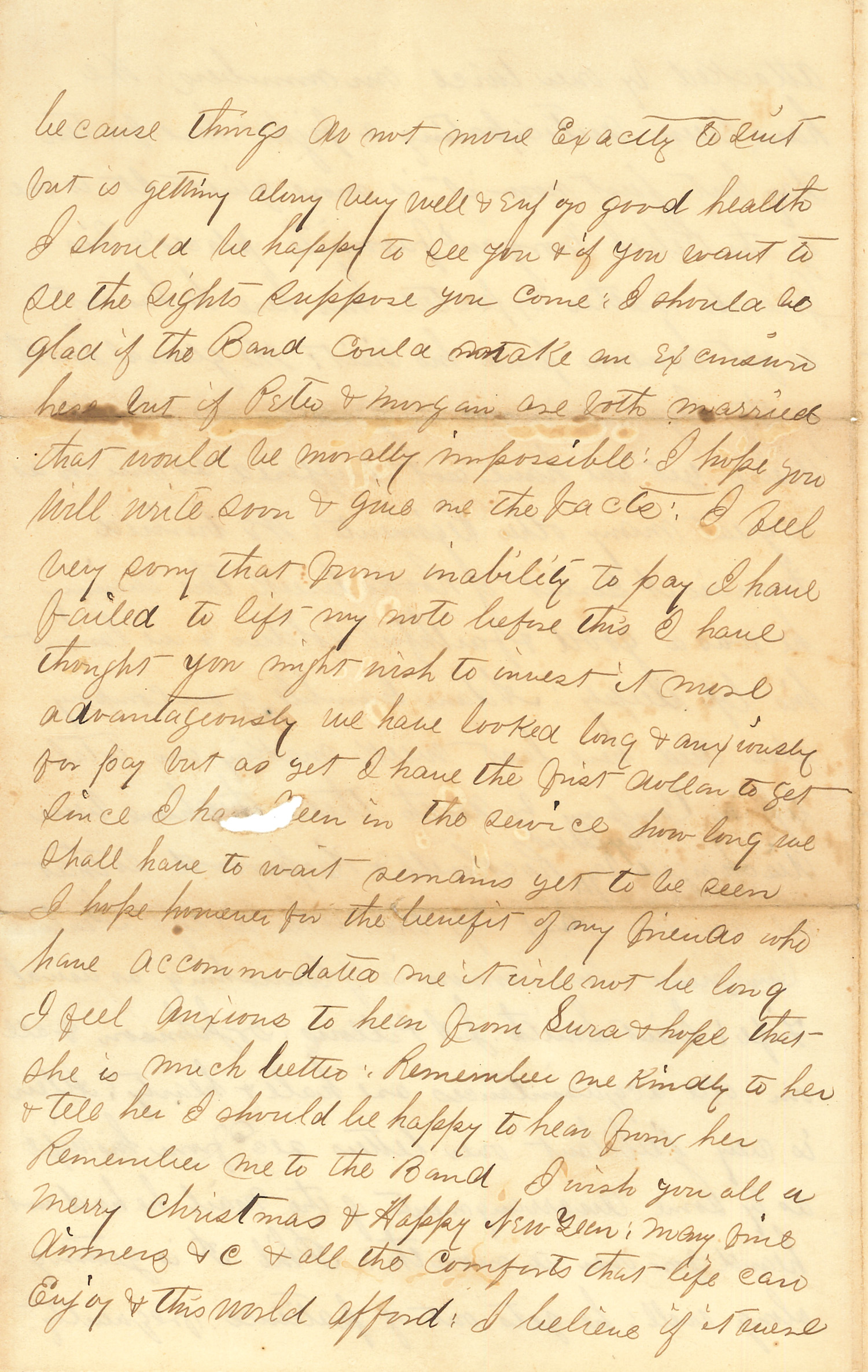 Joseph Culver Letter, December 17, 1862, Page 4