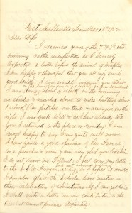 Joseph Culver Letter, December 18, 1862, Page 1