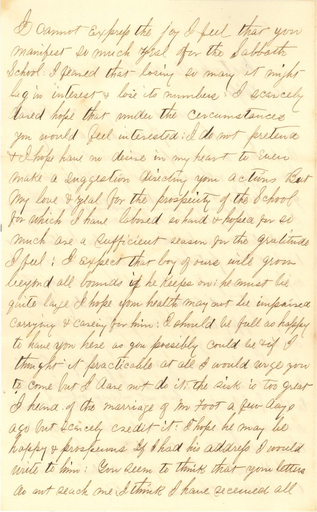 Joseph Culver Letter, December 18, 1862, Page 2