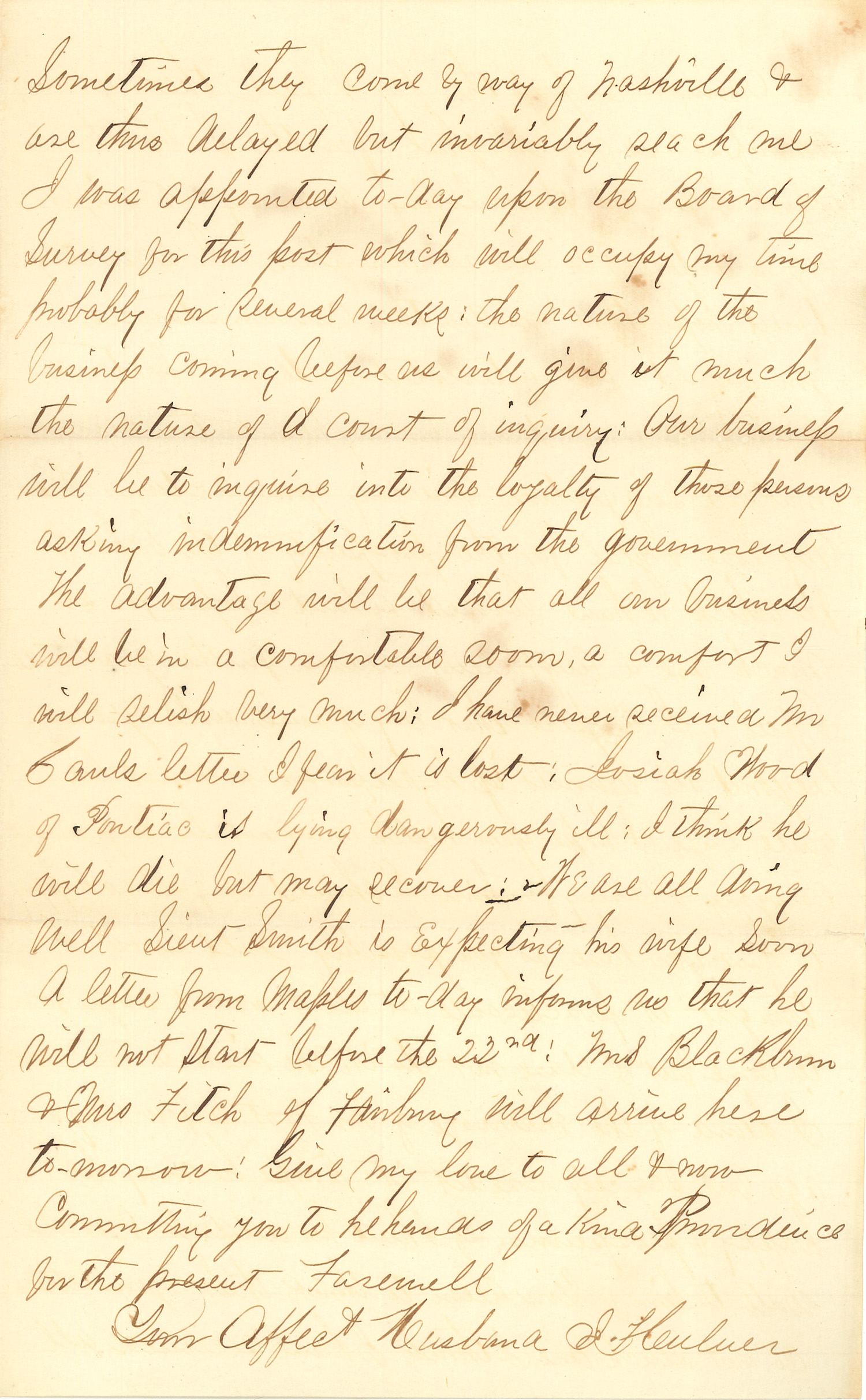 Joseph Culver Letter, December 18, 1862, Page 3