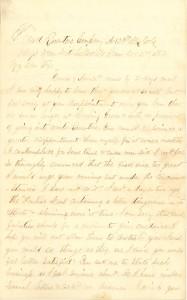 Joseph Culver Letter, December 2, 1862, Letter 2, Page 1