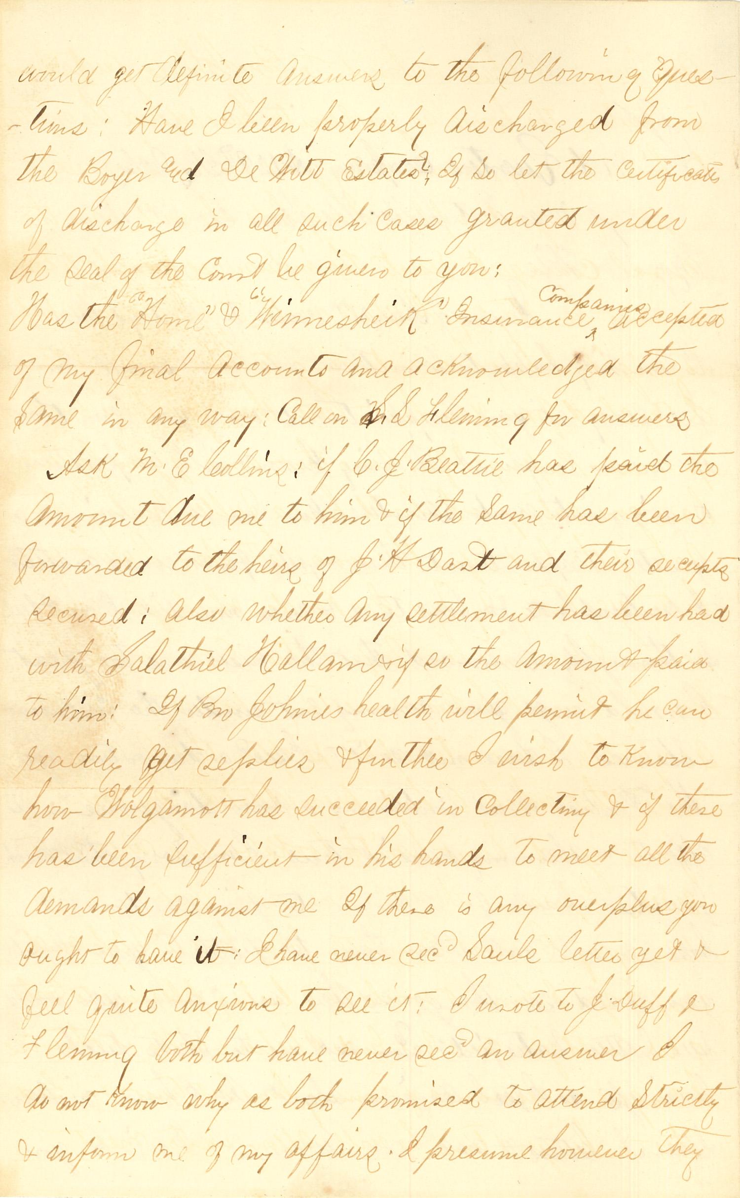 Joseph Culver Letter, December 2, 1862, Letter 2, Page 2