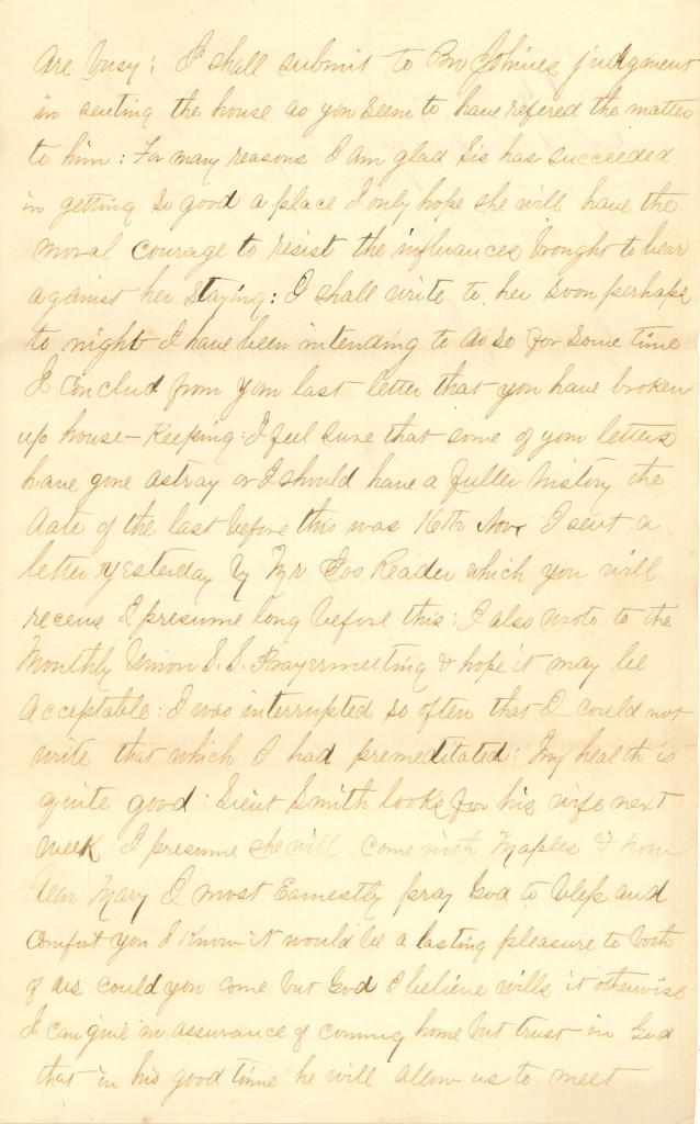 Joseph Culver Letter, December 2, 1862, Letter 2, Page 3