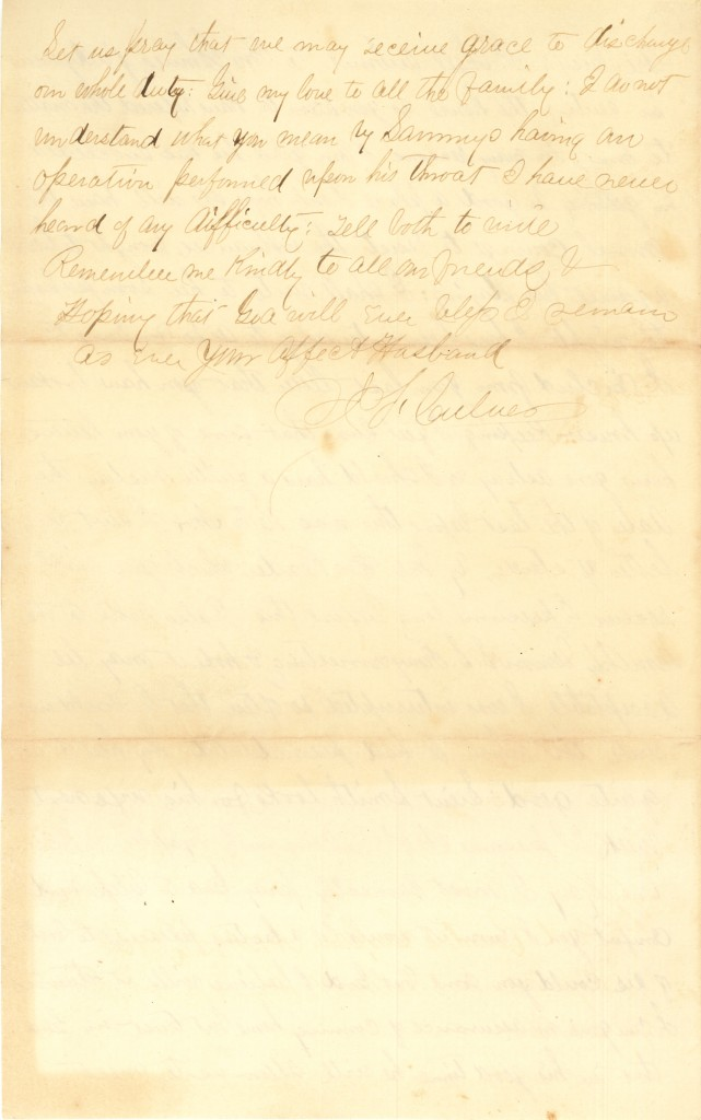 Joseph Culver Letter, December 2, 1862, Letter 2, Page 4