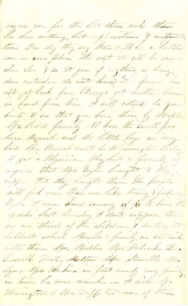 Joseph Culver Letter, December 2, 1862, Page 2